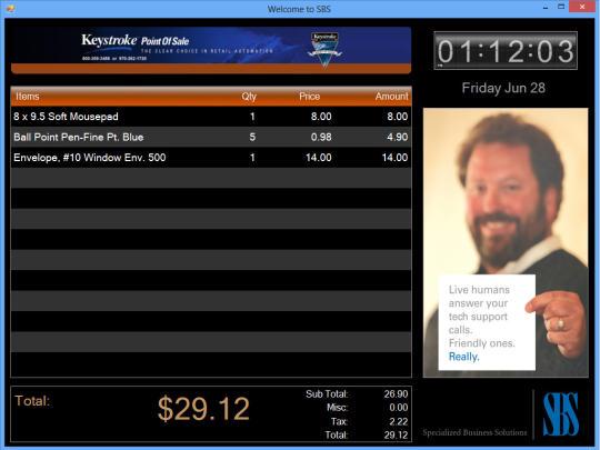 Digital Sign Controller for Keystroke POS Software