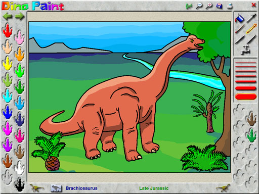 DinoPaint Coloring Book