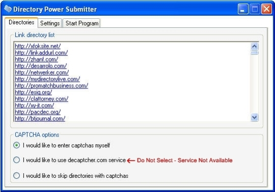 Directory Power Submitter