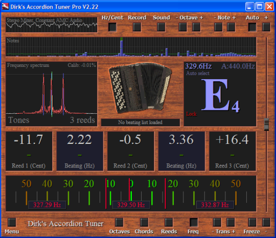 Dirk's Accordion Tuner Pro