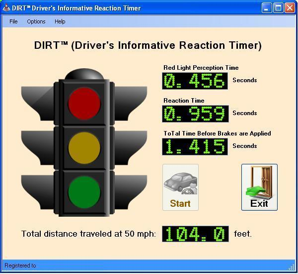 DIRT - Driver's Informative Reaction Timer