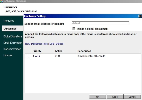 Disclaimer, S/MIME for IIS SMTP Service and Exchange Server