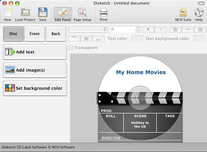 Disketch Free DVD and CD Label Maker for Mac