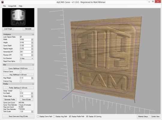 DiyCAM: Carve