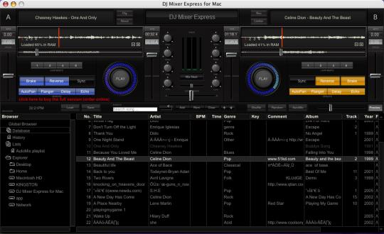 DJ Mixer Express (Mac)