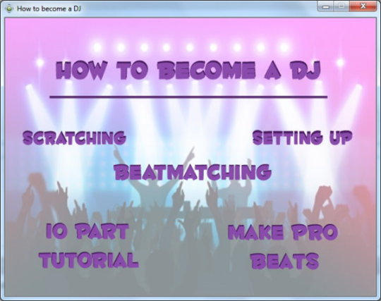 DJ Tutorial Software