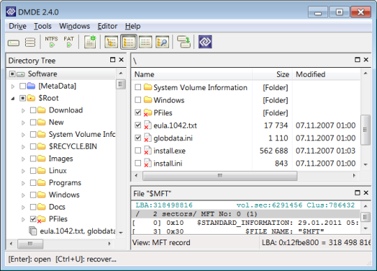 DMDE (DM Disk Editor and Data Recovery)