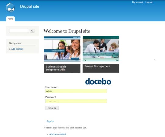 Docebo ELearning Drupal Plugin
