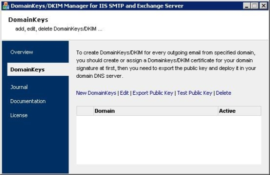 Domainkeys/DKIM for IIS/Exchange Server