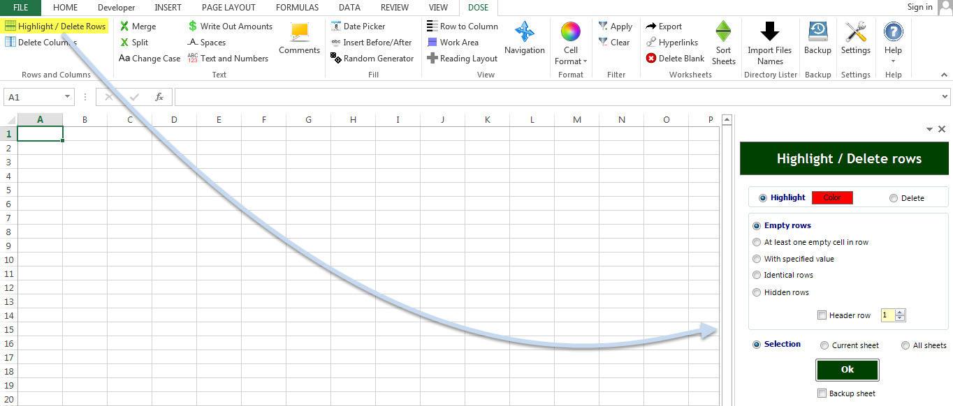 Dose for Excel AddIn