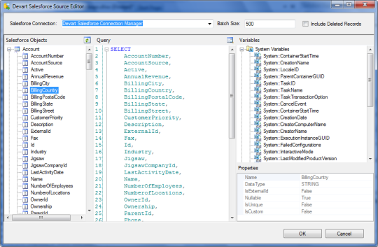 dotConnect for Salesforce SSIS