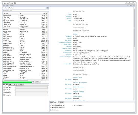 dp4 Font Viewer (64-Bit)
