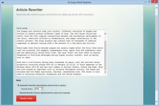 Dr Essay Article Rewriter