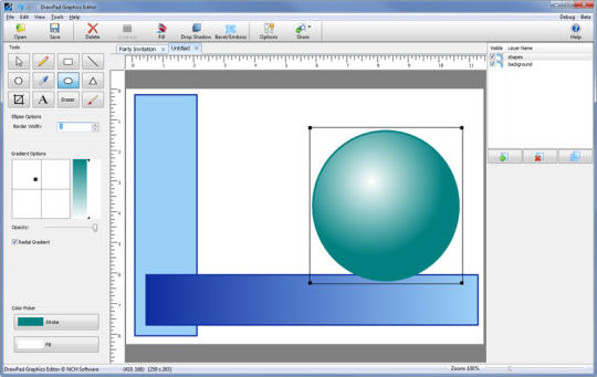 Drawpad Free Graphics and Logo Design software for Mac