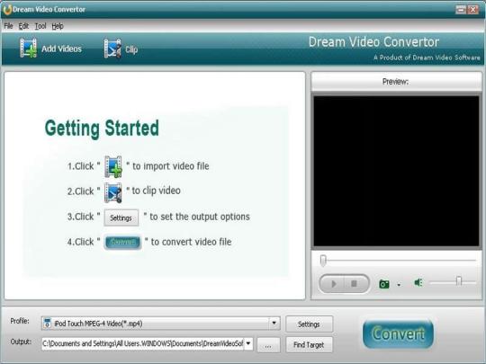 Dream SWF to AVI Converter
