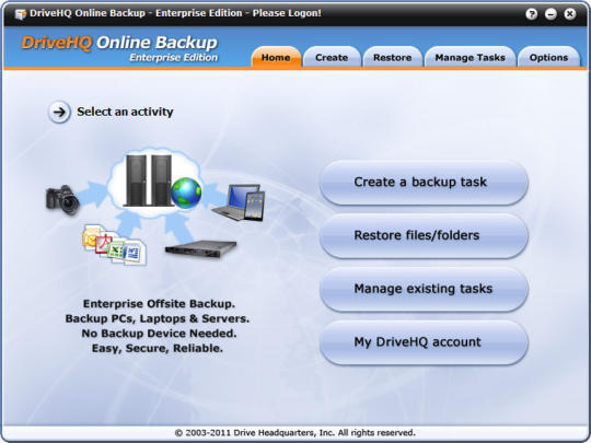DriveHQ Online Backup Enterprise Edition