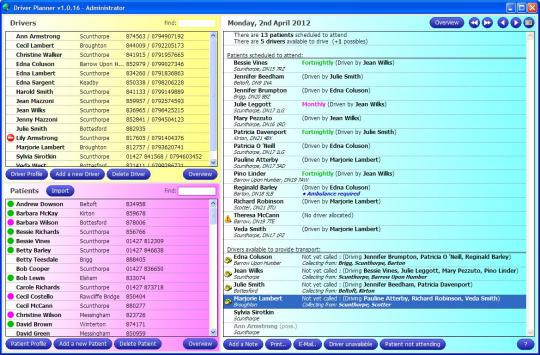 Driver Planner