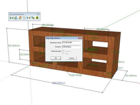 Driving Dimensions for Google SketchUp