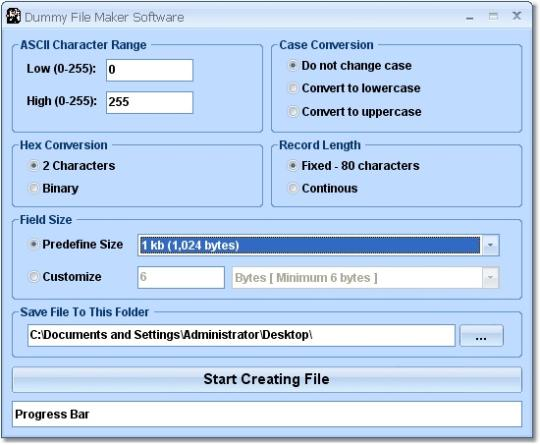 Dummy File Maker Software