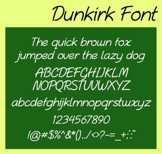 Dunkirk OpenType Font