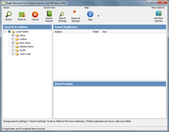 Dupe Remover for Outlook Express