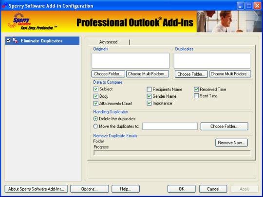 Duplicate Email Eliminator for Outlook 2007/Outlook 2010 (32-bit)