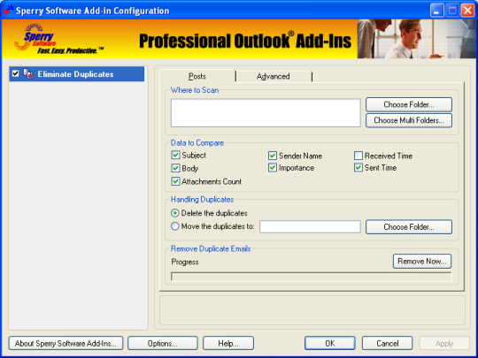Duplicate Posts Eliminator for Outlook 2003/Outlook 2002/Outlook 2000