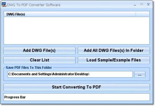 DWG To PDF Converter Software