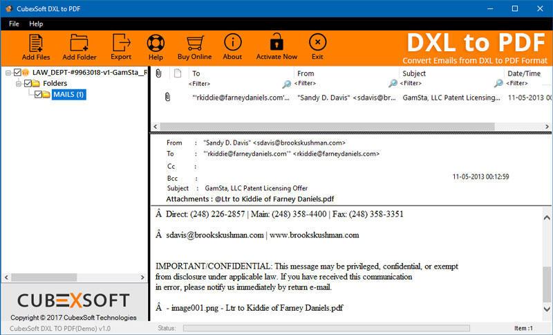 DXL to PDF Converter