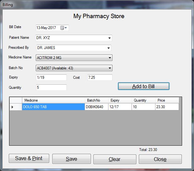 e-Pharmacy Manager