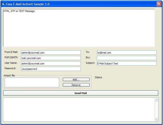 Easy Email ActiveX