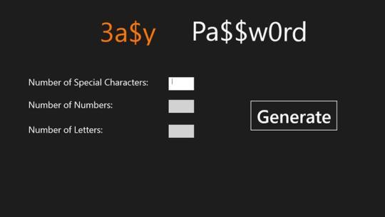 Easy Password for Windows 8