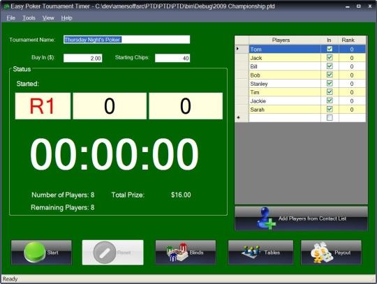 Easy Poker Tournament Timer