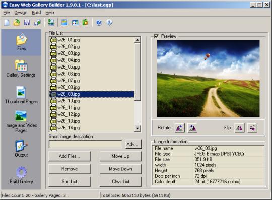 Easy Web Gallery Builder