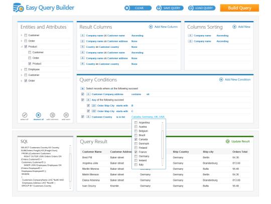 EasyQuery.NET Silverlight