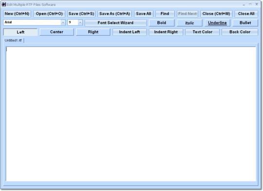 Edit Multiple RTF Files Software