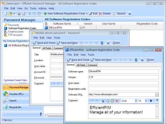 Efficient Password Manager Server
