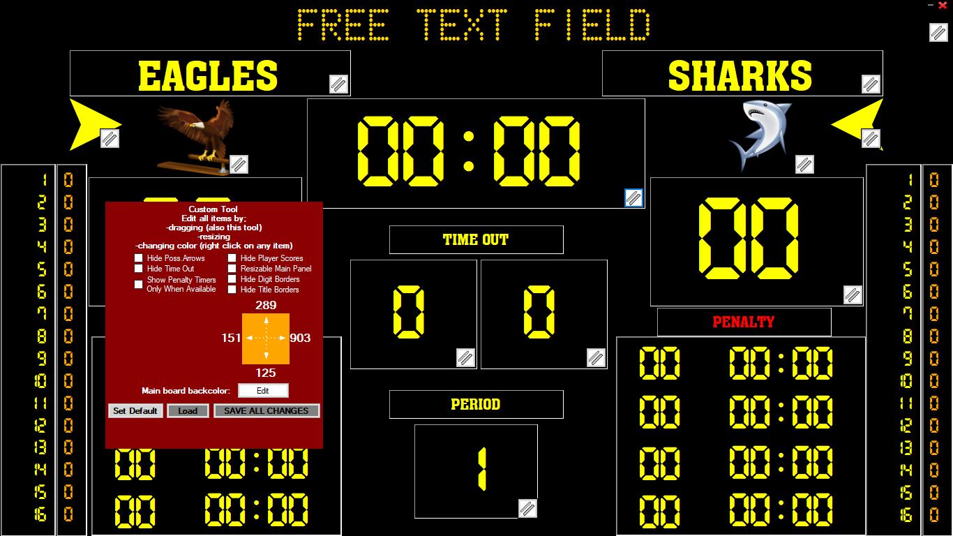 Eguasoft Handball Scoreboard