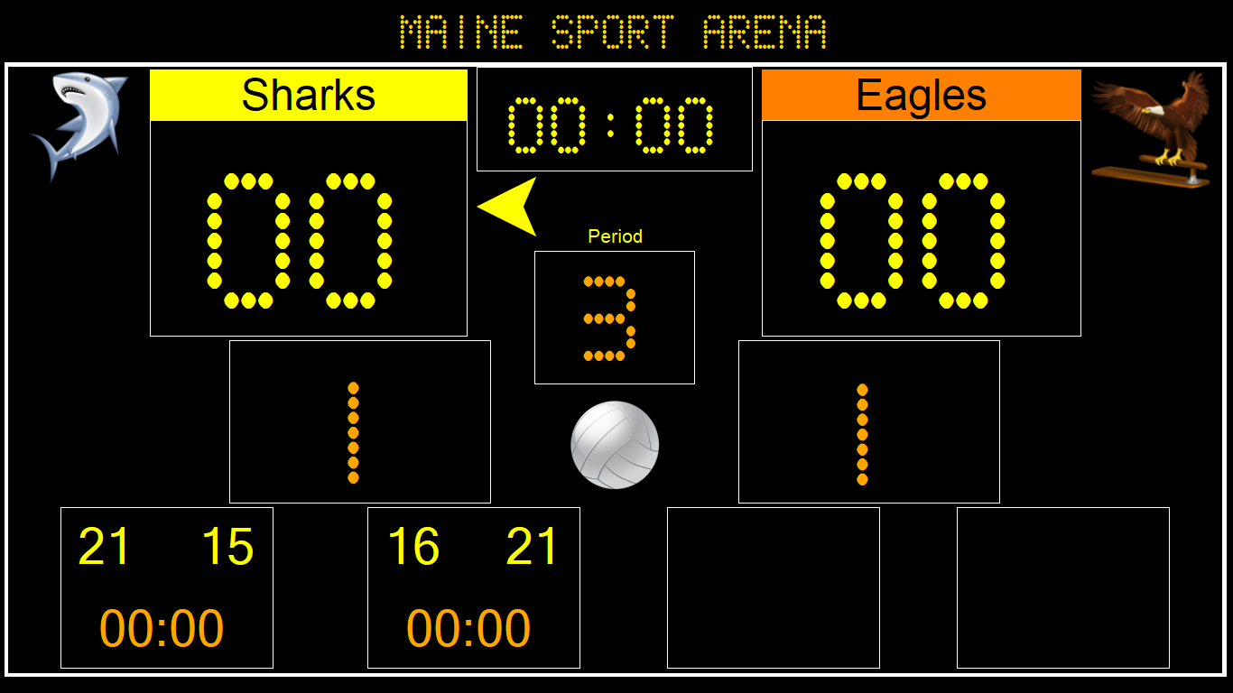 Eguasoft Volleyball Scoreboard
