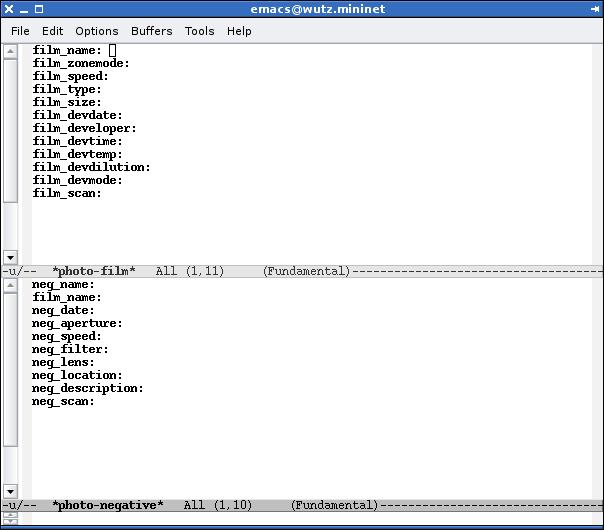 Emacs Photo Database