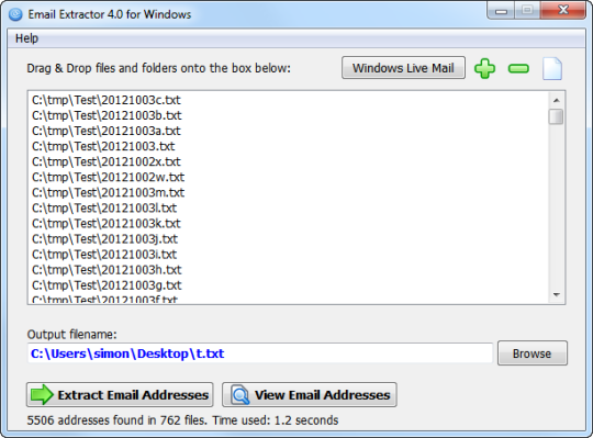 Email Extractor for Windows