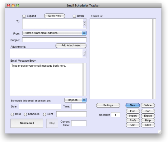 Email Scheduler Tracker for Mac