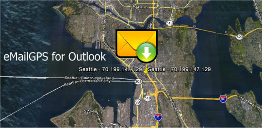 eMailGPS 2016 GeoLocation Add-In for Microsoft Outlook
