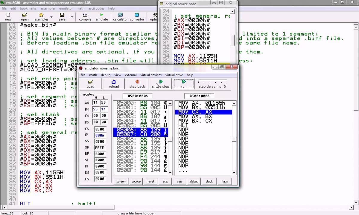 Emu8086 Microprocessor Emulator