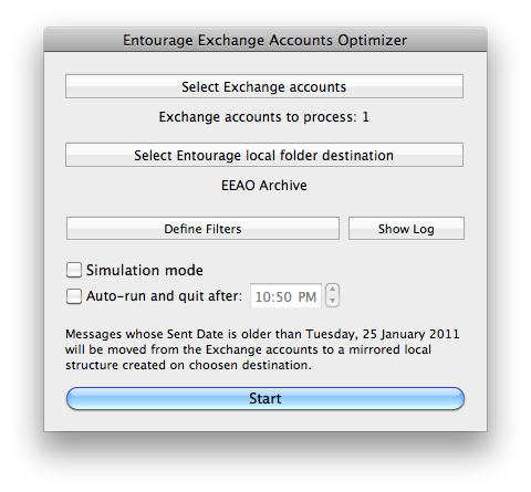 Entourage Exchange Accounts Optimizer