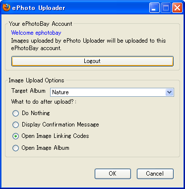 ePhoto Uploader