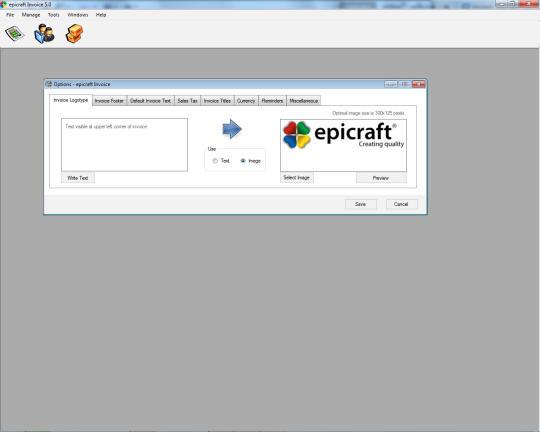 Epicraft Invoice