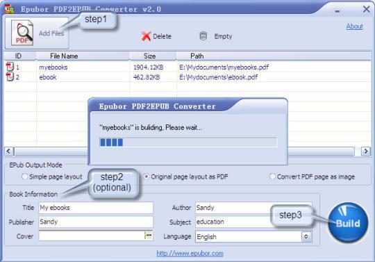Epubor PDF2EPUB Converter
