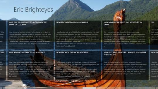 Eric Brighteyes by H. Rider Haggard for Windows 8