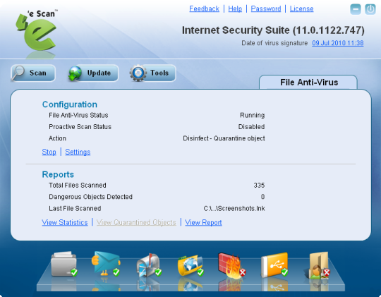 eScan InteeScan Virus Control Edition